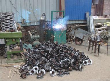 喷灌设备焊接车间